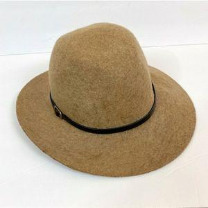 Boho Structured Panama Hat, Leather Band Trim